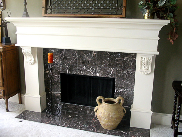 fireplace mantel corbels.  New York Woodsmiths